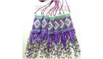 necklace miyuki beads long pendant sequare