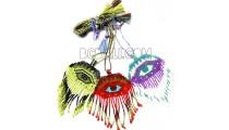 necklaces crystal evileyes pendant tassel beads miyuki