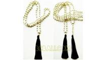 full pearls shells necklaces tassels organic