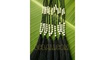 handmade tassels original pearls shells necklace