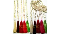 tassels necklaces pearls full strand single