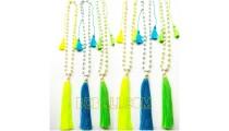triple tassels pendant necklaces pearls fresh pearls