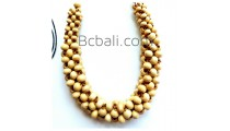 bali solid wood seeds beads choker necklaces