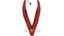 handmade necklace made by wood ethnic