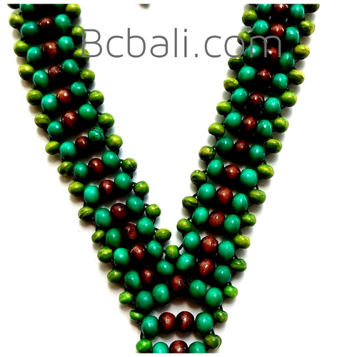 Necklace Ethnic Design Hand Made By Wooden Necklace