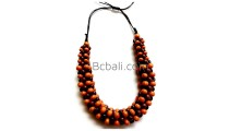 solid wood seeds beaded choker necklaces ethnic handmade