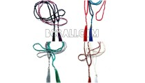 8 color necklaces tassel bead metalic crystal