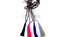 tassel necklaces beading crystal pendant bali