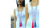 budha chrome necklaces tassels crystal beads
