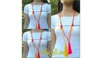 fashion necklace bead tassel triple charming bali