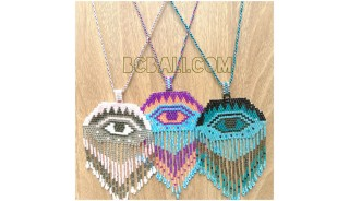 miyuki beads crystal evil eyes new necklaces