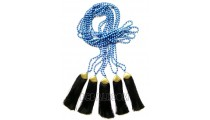 bead stone necklaces tassels black golden chrome