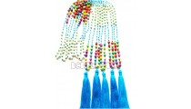 mix stone bead necklaces tassel turquoise long seed
