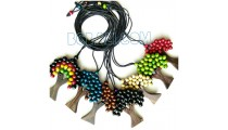 palm tree necklaces wooden strings 7 color