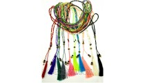 tassels crystal small beads pendant necklaces bali