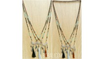 bali beads charms pendant tassels necklaces bronze