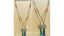 exotiq tassel bead mix two color pendant tree of life bronze