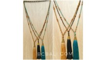 3color king cup tassels necklaces crystal exclusive