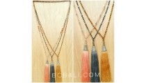 bali tassels king cup silver necklaces 3color handmade
