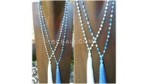 bali handmade prayer necklaces beads ceramic two color
