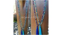 ceramic stones glass beads necklaces tassels bali