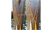transparent ceramic beads bali tassels necklaces designs