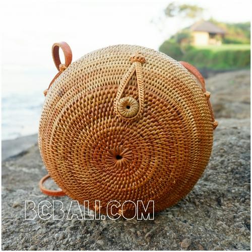 ... around circle handbags ethnic unique style full handmade hand woven  rattan ... e3a9d3a3cc882