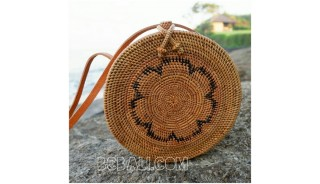 ata rattan hand woven handbags around motif ethnic bali design