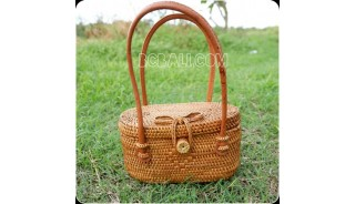 coin purses bag small rattan handwoven unique design