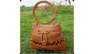 handbag rattan hand woven ata grass balinese natural design