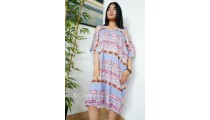 bali batik hand printing fabric women dress handmade fashion