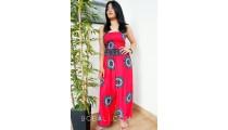 bali clothing hand pattern rayon printing jumpsuit