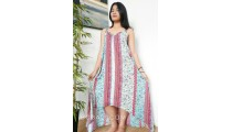 bali clothing long dress sleeveless fashion handmade hand printing