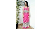 bali fashion batik rayon printing long dress patterned clothing design