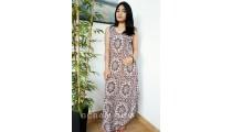 bali fashion batik rayon printing long dressed pattern clothing design
