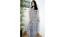 bali fashion clothing hand printing cotton long dress pattern