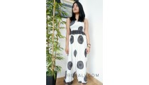 bali women jumpsuit clothes fashion design pattern white color