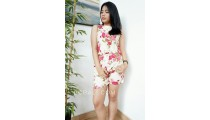 bali clothes short pants sets women fashion fabric print flower