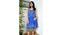 fashion clothing balinese designer sundress beaches blue