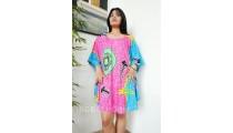 hand painting women dress rayon pattern fashion clothing