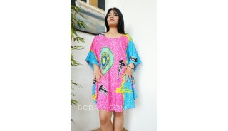 hand painting women dress rayon pattern fashion clothing