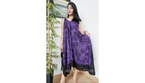 hand printing rayon batik long dress fashion clothing made bali