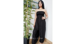 jumpsuit bali fashion design clothes rayon solid color black