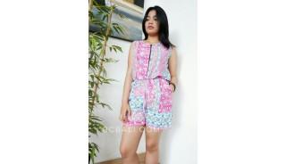 jumpsuit bali hand printing rayon batik handmade