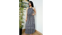 ladies clothing long dress fabric pattern rayon bali fashion design