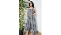 large clothing long dress fashion handmade hand printing