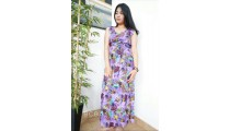 long dress bali batik hand printing handmade ladies clothing