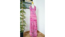 long dress rayon hand stamp pareo clothing bali handmade