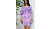 short dress bali clothing fashion fabric printing rayon purple