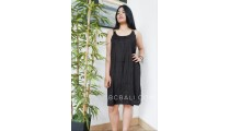 short dress solid color black rayon clothing bali design